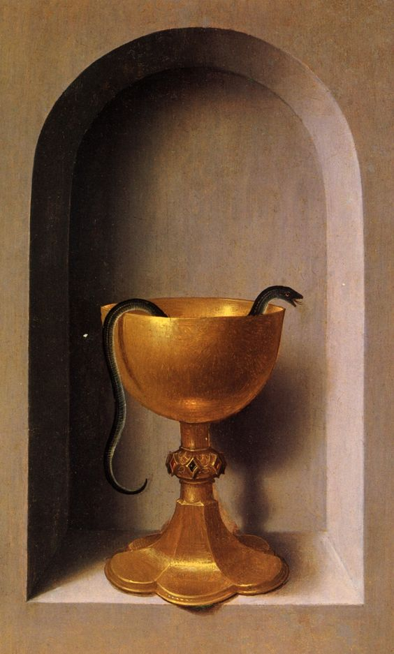 MEMLING, Hans St John and Veronica Diptych (reverse of the right wing) c. 1483