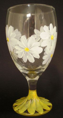 Painting wine glasses, instructions and ideas.