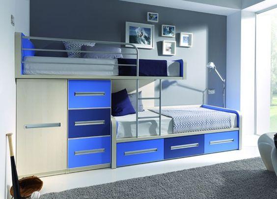 Habitaci n infantil cama tren 1 compacto 3 cajones disponible en cama nido 1 modulo bajo cama - Habitacion infantil tren ...