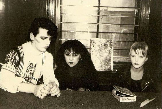 Pete with Lyn and Jayne Casey in Probe Records Liverpool.