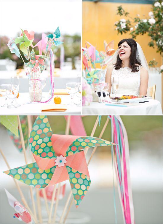 {pinwheel wedding} So simple & sweet.