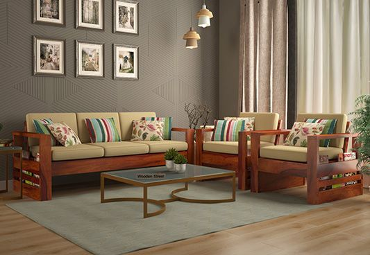 Buy Winster Wooden Sofa 3 1 1 Sets Honey Finish Online In India In 2020 Wooden Sofa Set Designs Sofa Set Designs Wooden Sofa Designs