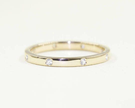 Diamond Wedding Band Evenly Spaced Diamond Band 14k Solid Etsy White Gold Diamond Ring Simple Diamond Wedding Bands Simple Diamond Ring
