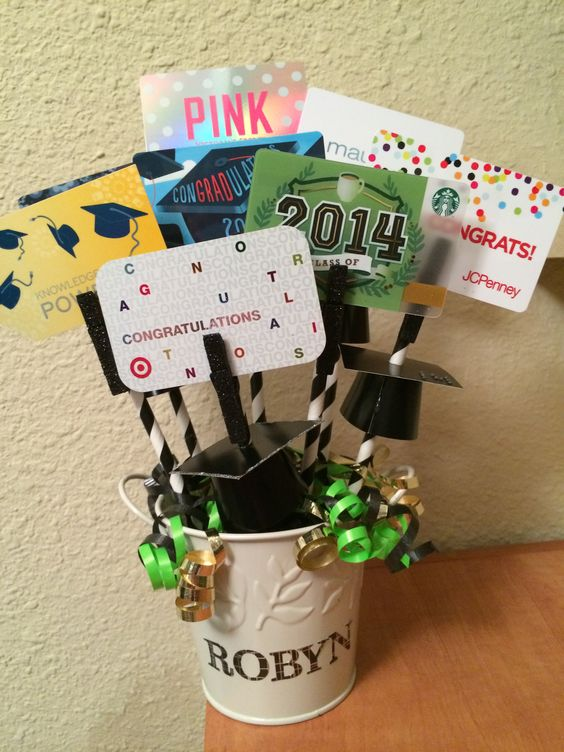 Gift card bouquet:
