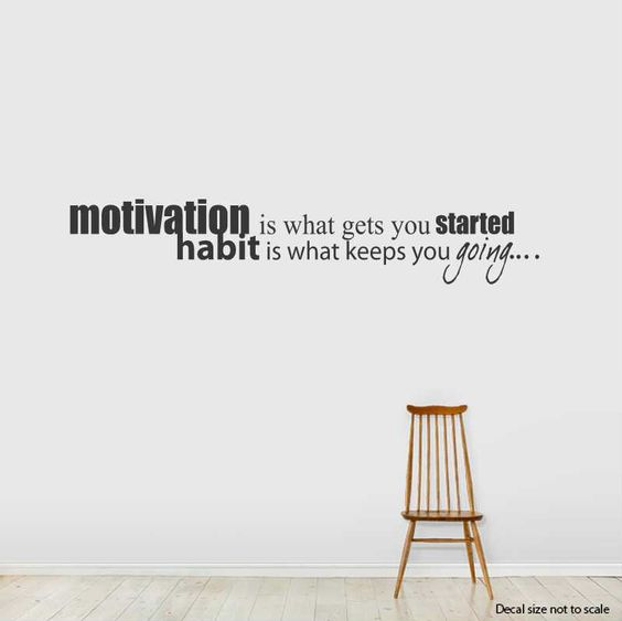 Share us on your network of choice and get 10% off your order! Motivation Is What Gets You... Wall Art Decal