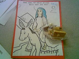 Abigail (peacemaker) and David craft using coloring sheet: http://hwcyouth.org/Portals/0/main%20street/curriculum-pdf/David-Nabal-Abigail%20%5By2_w21%5D.pdf