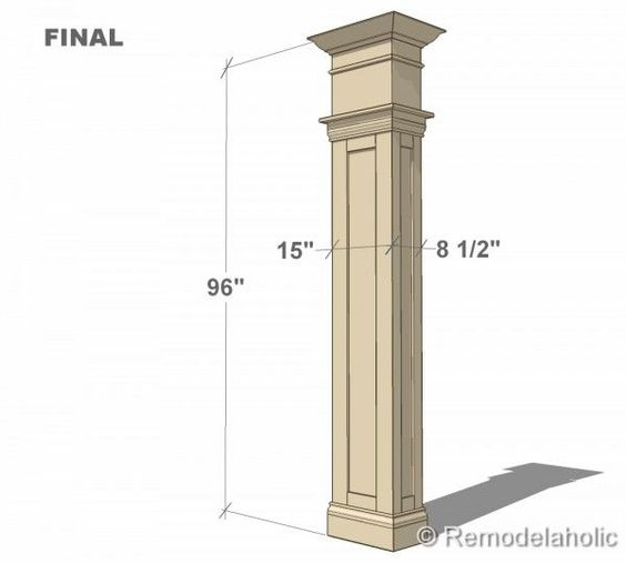 Free interior column plans in the corner build your own for Interior support columns