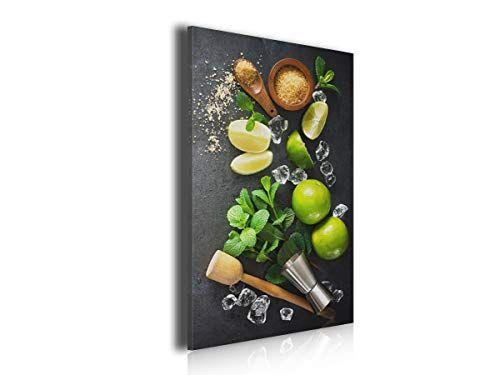 Hxa Deco Decoration Murale Pour La Cuisine Tableau Deco Tableau Moderne Tableau Cuisine Deco Recette Et Ingredients Mojito 50x80cm