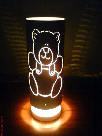 Luminaria Feita Em Pvc Reciclado Toda Trabalhada A Mao Luz Suava