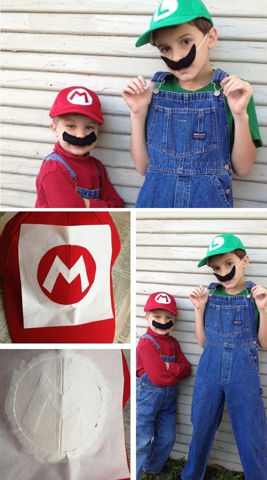 25+ Easy DIY Halloween Costumes for Kids to Make | Luigi costume Home-made Halloween and Halloween costumes : luigi costume for kids  - Germanpascual.Com