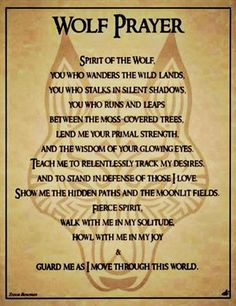 wolf poems | krystal tagged spirit of the wolf wolf prayer on december 4 2012 leave
