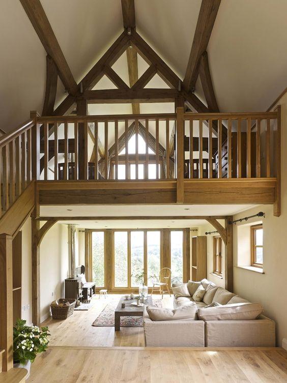 Barns contemporary border oak oak framed houses oak for Mezzanine floor ideas