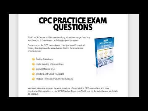 Cpc Practice Exam Questions 2019 Youtube Practice Exam Exam