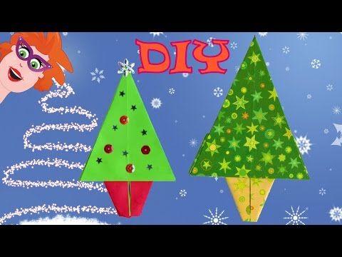 Diy Origami Kerstboom Vouwen Makkelijk Knutselen Met Papier Youtube Knutselen Met Papier Knutselen Kerstkaart Knutselen