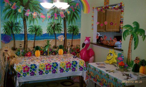 explore luau party centerpieces