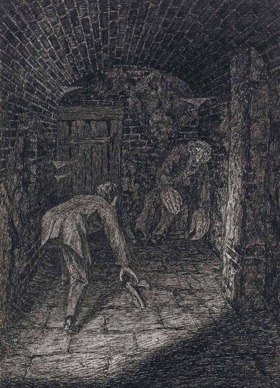Fritz Schwimbeck (1889-1972) Ein Traum Von G Meyerink 1917 (26,2 x 18,2 cm):
