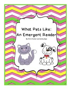 Here is a simple and fun emergent reader that is great for young learners.  Lots of picture support with a simple and repetitive text.  Your little ones will have fun reading and coloring!  Great for a pets theme!