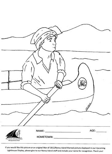 fur trade coloring pages - photo#5