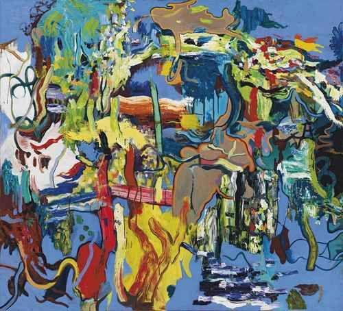 Daniel Richter (German, b. 1962), Blue, 1995. Oil and acrylic on canvas, 150.3 x 165.4 cm.
