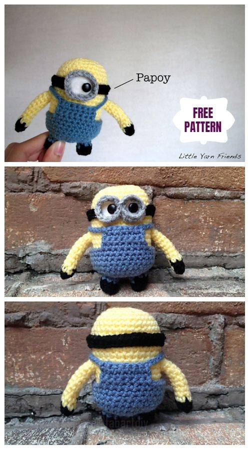 Minion Free Crochet Pattern Collection All The Best Ideas | Minion ... | 900x500