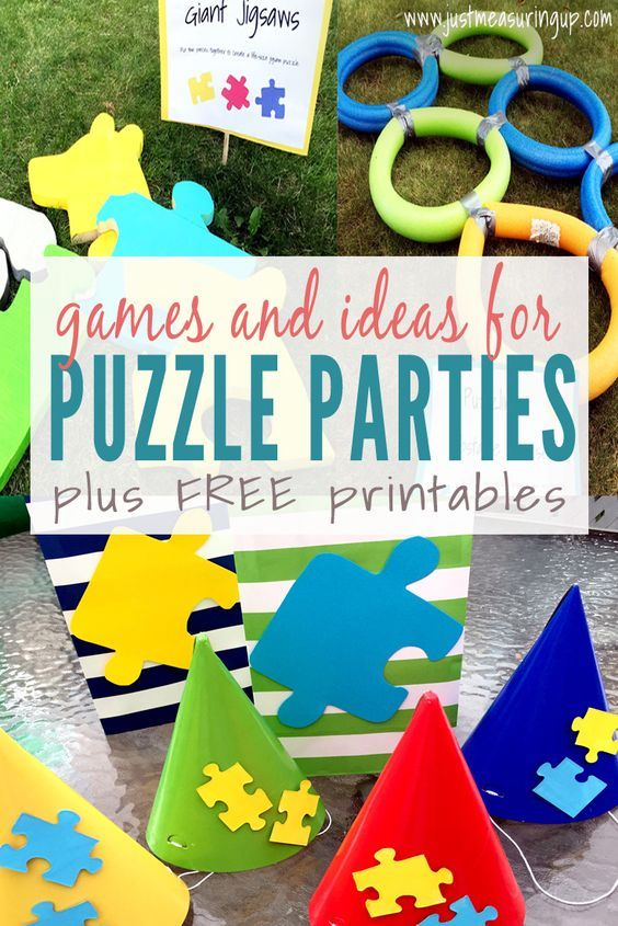 Puzzle Party Ideas Games Activities With Free Printables Puzzle Party Adoption Party Missing Piece Adoption Party