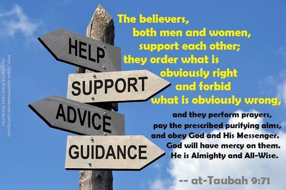 at-Taubah 9:71  as rendered by  Safi Kaskas