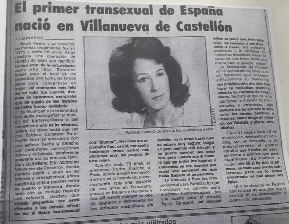 Entrevista a Patricia Constant en el diario 'Levante' (enero de 1989)