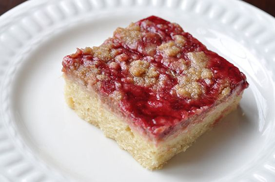 Raspberry Cream Cheese Crumb Cake with Chambord