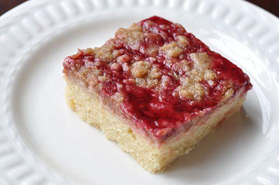 Raspberry Cream Cheese Crumb Cake with Chambord