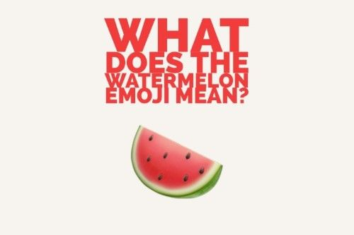 22+ Watermelon Emoji Meaning  Background
