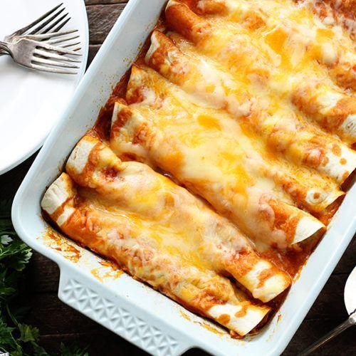 5 Ingredient Beef Enchiladas Recipe Easy Enchiladas Beef Enchiladas Recipes