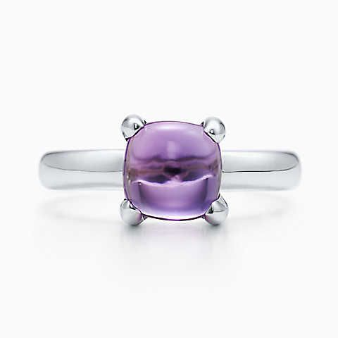 Paloma's Sugar Stacks ring with an amethyst in sterling silver, small.