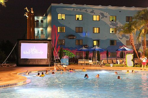 Movies under the stars at Disney's Art of Animation Resort #disney #wdw #hotel