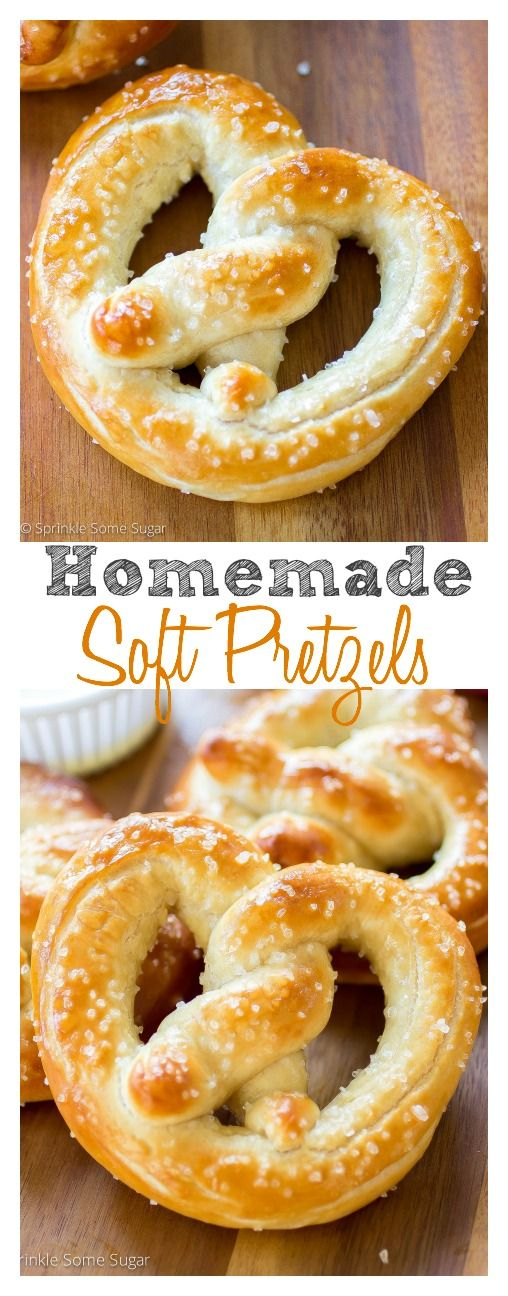 Homemade Soft Pretzels. So soft, so buttery, they're better than any food chain!::