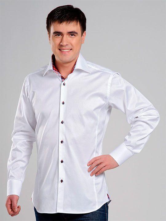 изысканная отделка молодежной рубашки белого цвета