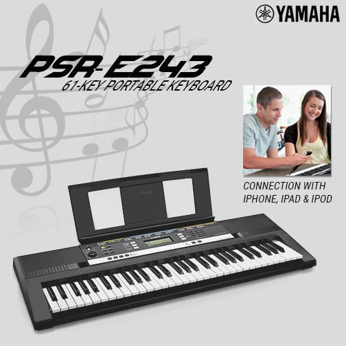 Extend and enhance your keyboard by connecting to your iPhone/iPad/iPod. Add virtual pitch bend, mod wheels and an arpeggiator with Yamaha's Sound Controller app. #YamahaKeyboard #iPhoneConnection