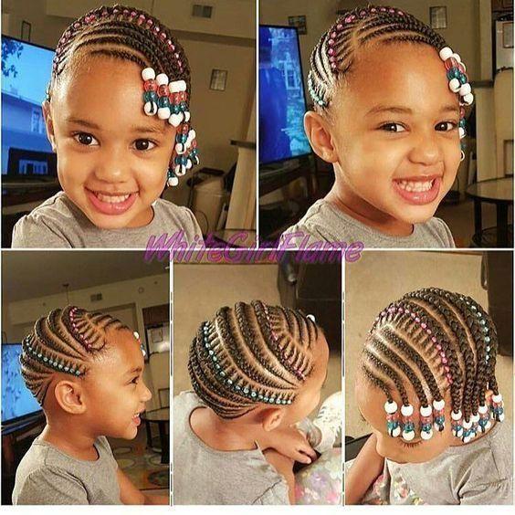 Short Hairstyle For Older Women Kids Braids With Beads Braids For Kids Toddler Braided Hairstyles