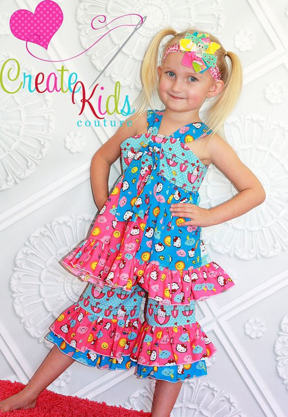 Please repin.. I could win a free PDF pattern for the most repins...  Grace's twirly center knot dress and top PDF by CreateKidsCouture, $8.00    One of My FAVORITE Patterns and By Far The BEST Designers