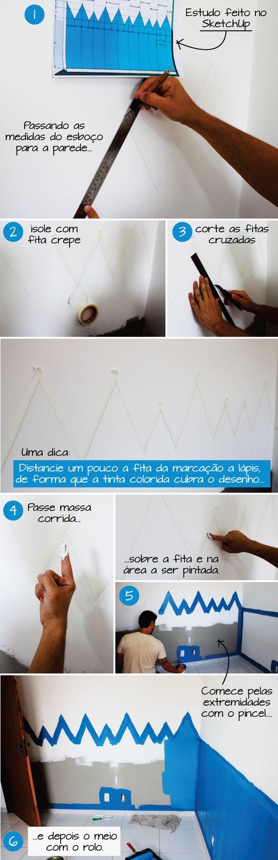 Transforlar: Como fizemos uma pintura ZigZag na parede