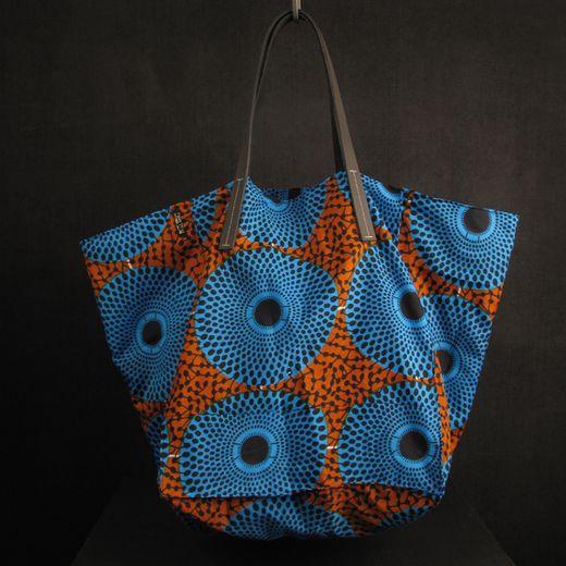 http://www.darkroomlondon.com/darkroom-africa-cube-tote-bag-blue-and-rust-circles