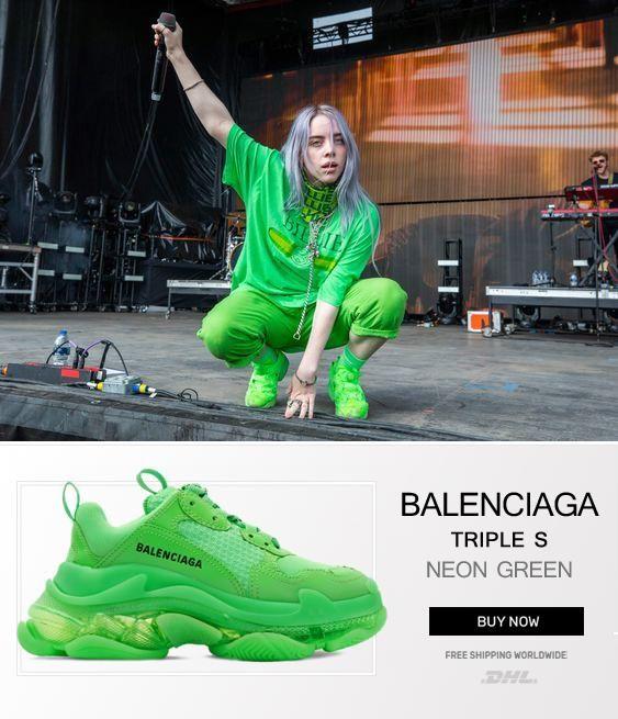 Buy Balenciaga Triple S Trainers Neon