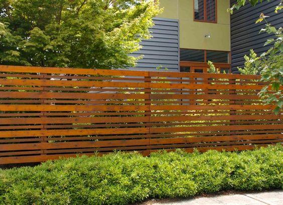 Wood Fences Fence And Horizontal Fence On Pinterest