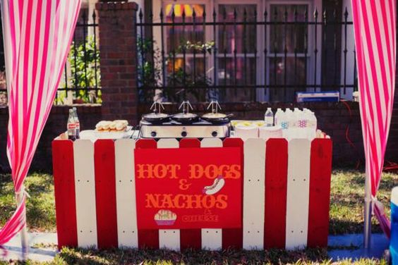 Hot dogs nachos and carnival food on pinterest - Food booth ideas ...