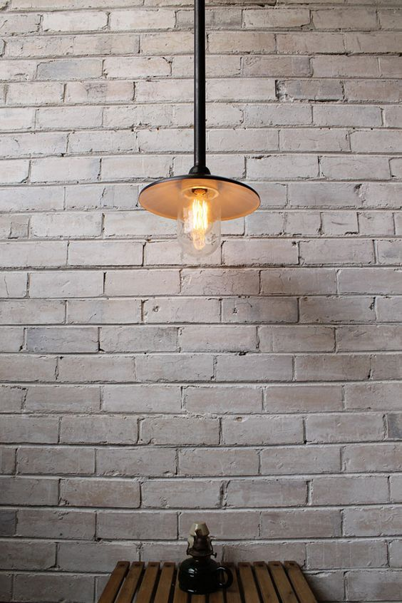 rod pendant has a white inner shade