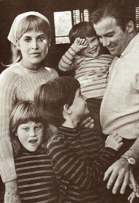 William Shatner with his family. 1st wife Gloria Rand (m ...