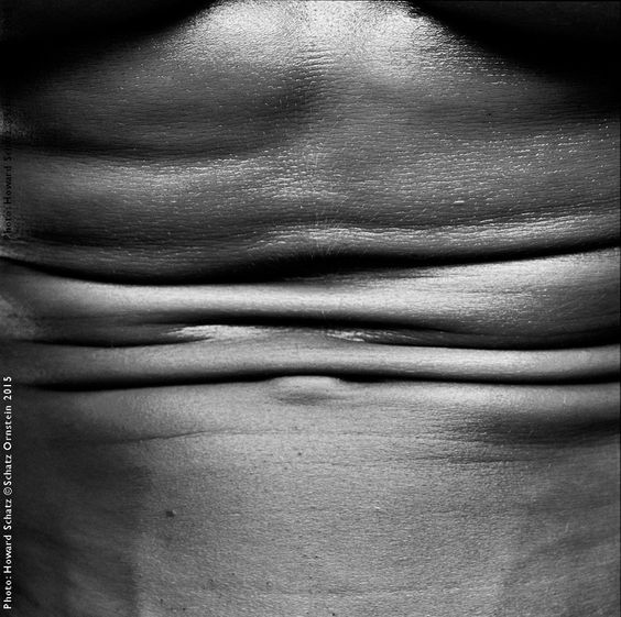The human body, lines and fold, howardschatz.com