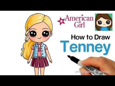 How To Draw Tenney Easy American Girl Doll Youtube Doll Drawing Kawaii Girl Drawings Draw So Cute Videos