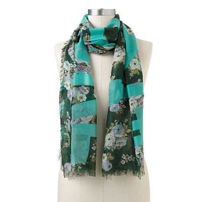 Juicy Couture Floral Fringed Scarf