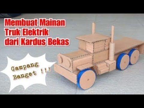 Mengagumkan Cara Mudah Membuat Mainan Truk Dari Kardus Prakarya Dari Kardus Youtube Mainan Kardus Truk
