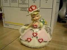 vintage ceramic valentine girl